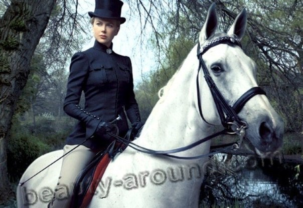 Nicole Kidman on the white horse photos