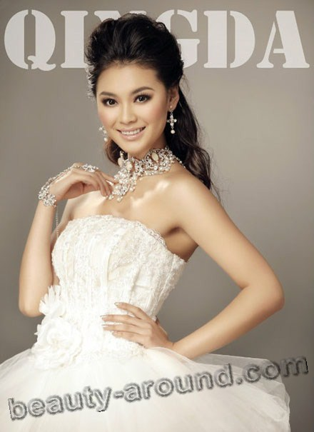 Yu Wenxia winner of Miss World 2012 photo