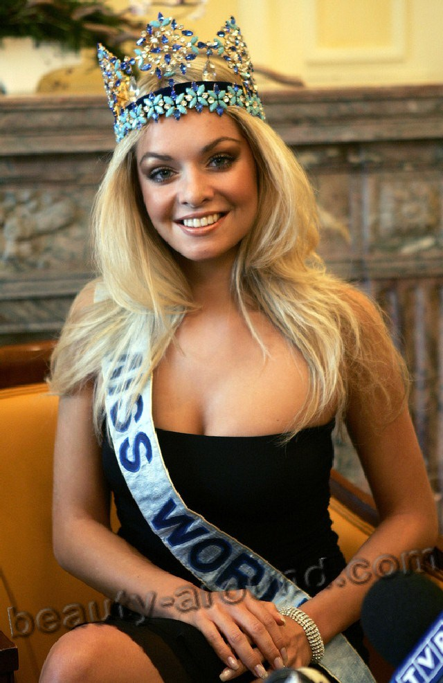 Tatana Kucharova  winner of Miss World 2006 photo
