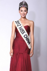The winner of the Miss World 2012 Yu Wenxia